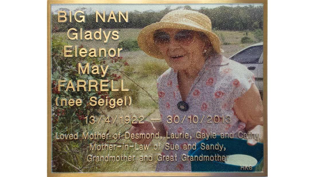 Gallery - Big Nan Plaque