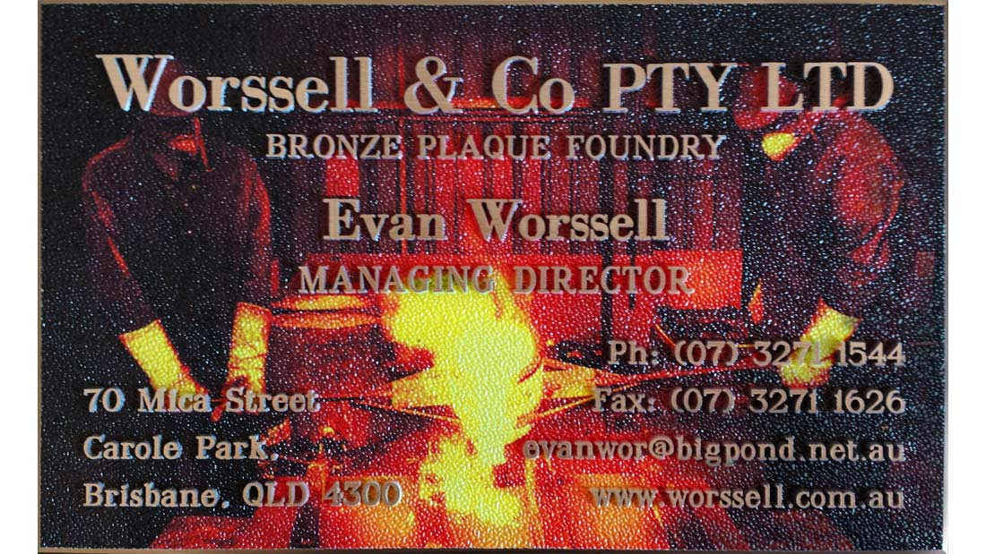 Gallery - Business Card Plaque