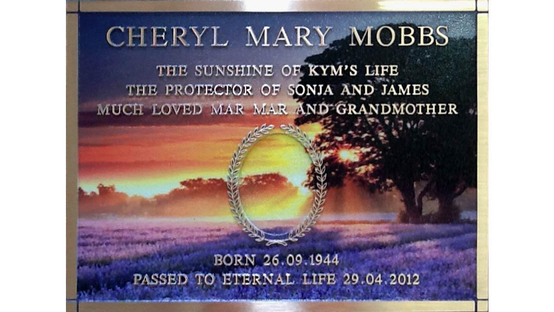 Gallery - Cheryl Mobbs Field Plaque