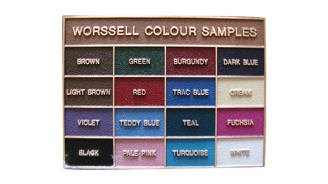 Borders - Worssell Colour Chart